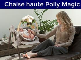 bébé dans sa chaise haute polly magic