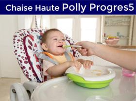 bébé mange dans sa chaise haute Polly Progres5