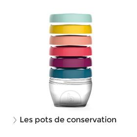 Les pots de conservation