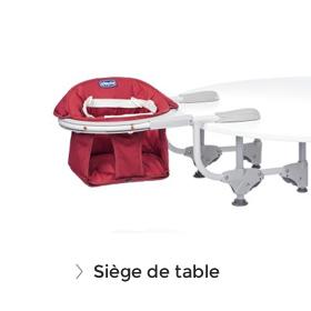 Soldes siège bébé de table