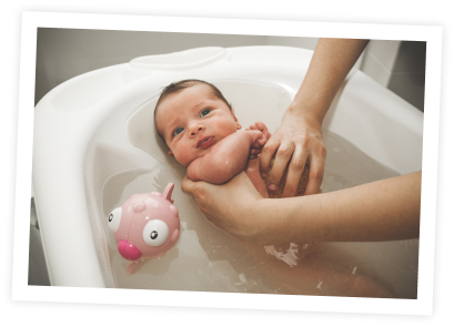 Les indispensables pour la toilette de bébé