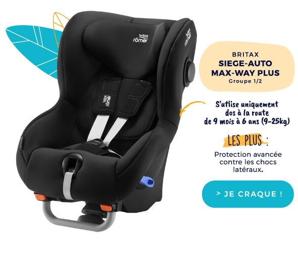 Britax SIÈGE AUTO MAX-WAY PLUS COSMOS BLACK - GROUPE 1/2