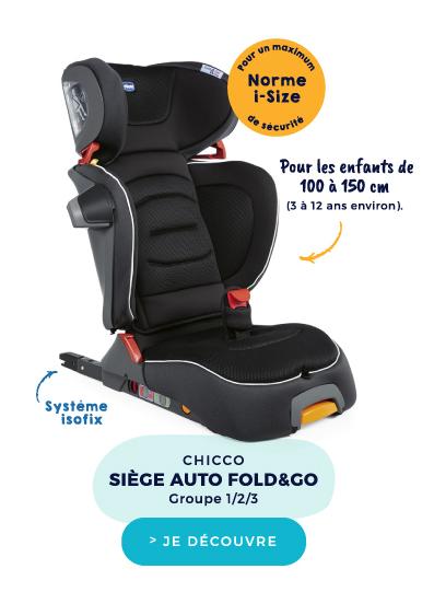SIÈGE-AUTO FOLD&GO I-SIZE JET BLACK GROUPE 1/2/3