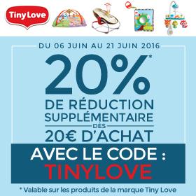 20% sur la marque Tiny Love