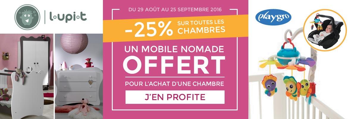 -25% sur les chambres Loupiot et un mobile offert !