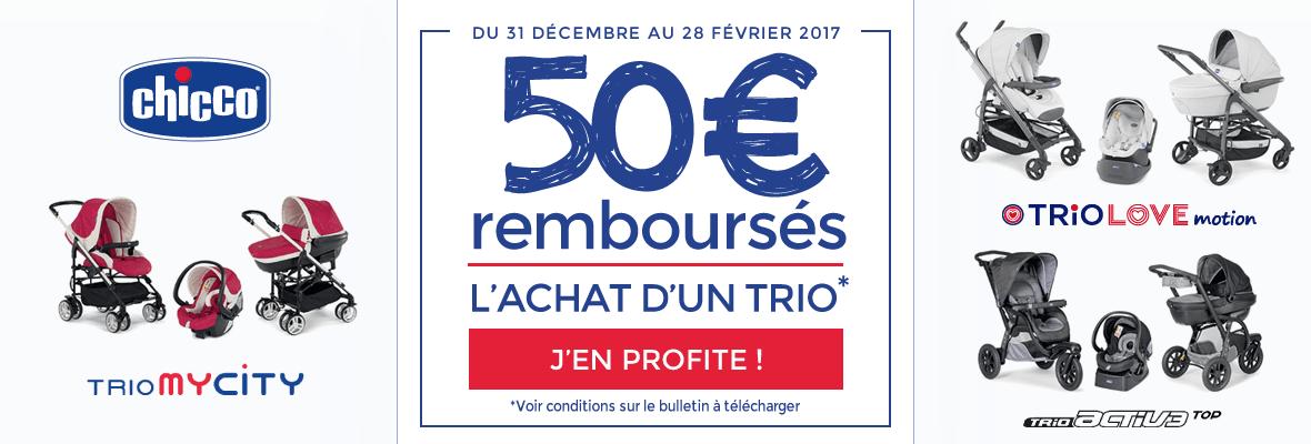 50€ remboursés sur un trio Chicco !