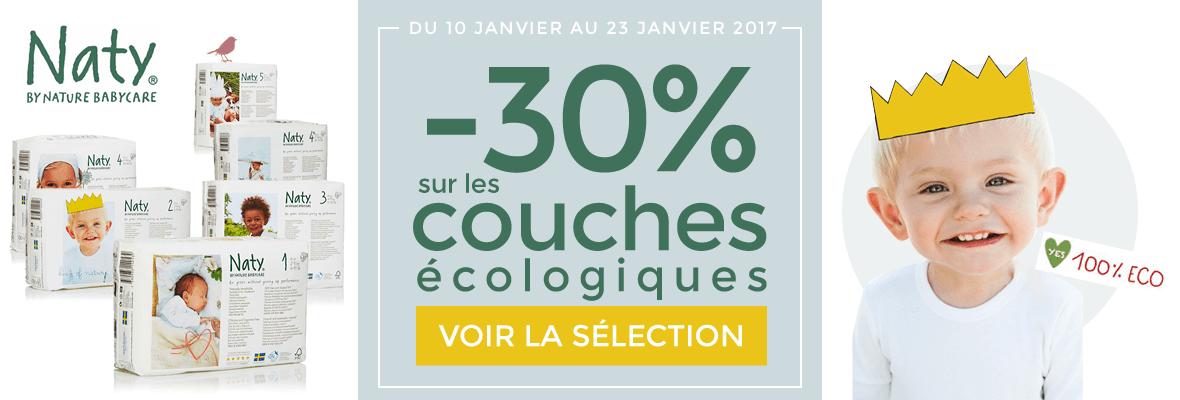 -30% sur les couches écologiques Naty !