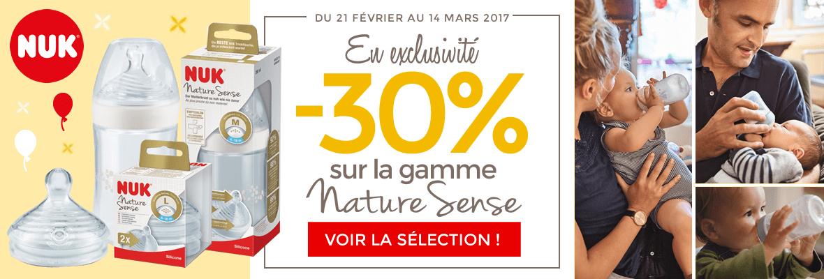 -30% sur la nouvelle gamme Nature Sense