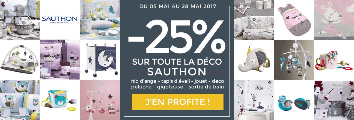 -25% sur toute la déco Sauthon