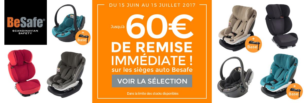 Jusqu'à 60€ de remise Besafe !