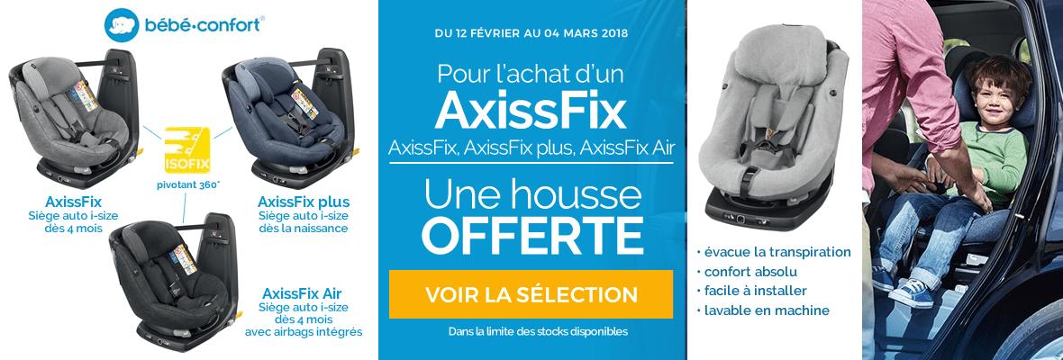 Housse offerte sur les Axissfix !