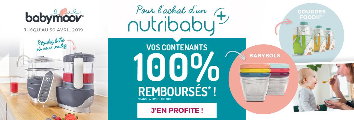 Pour l'achat d'un Nutribaby+, vos contenants remboursés !