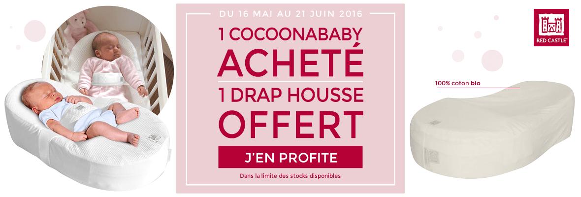 1 Cocoonababy acheté = 1 drap housse offert