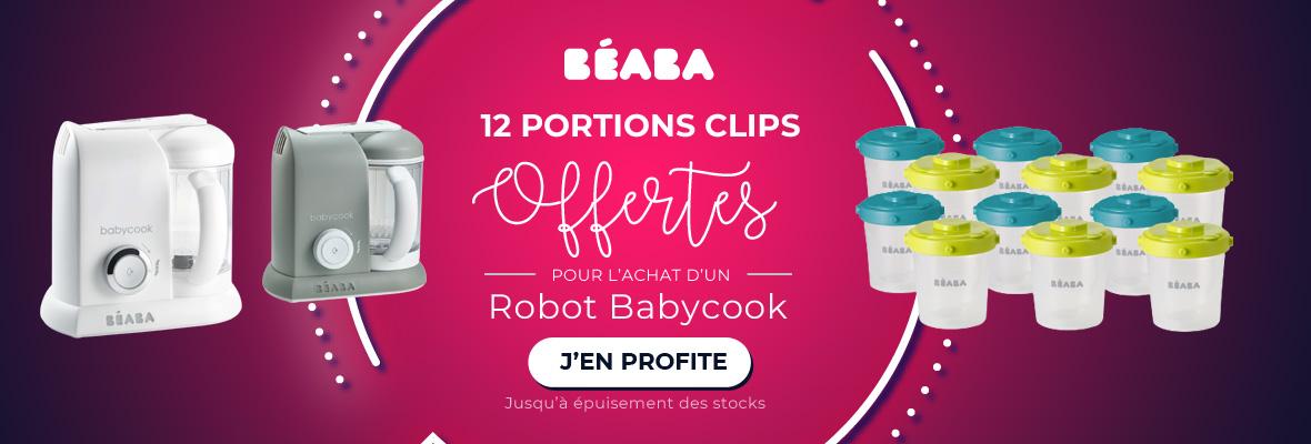 Beaba : Bundle robot BBK avec 2 lots de 6 portions clip 2ème âge offerts