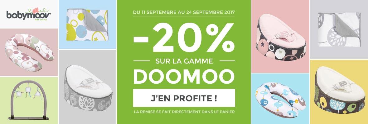 20% sur la gamme Doomoo