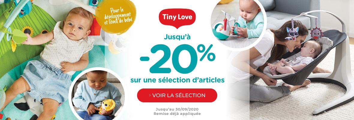 Jusqu'à -20% chez Tiny Love !