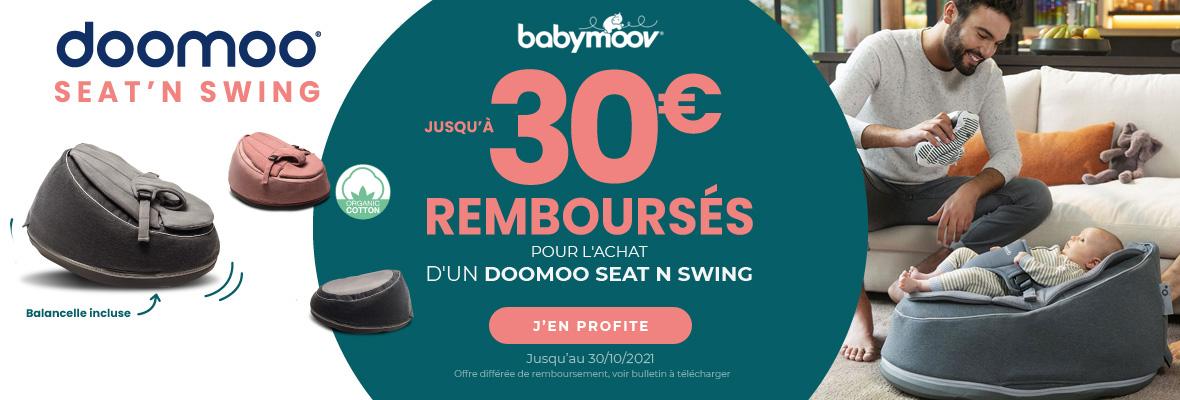 30€ de remise pour l'achat d'un Doomoo seat'n swing