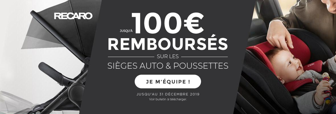 Jusque 100€ remboursés !