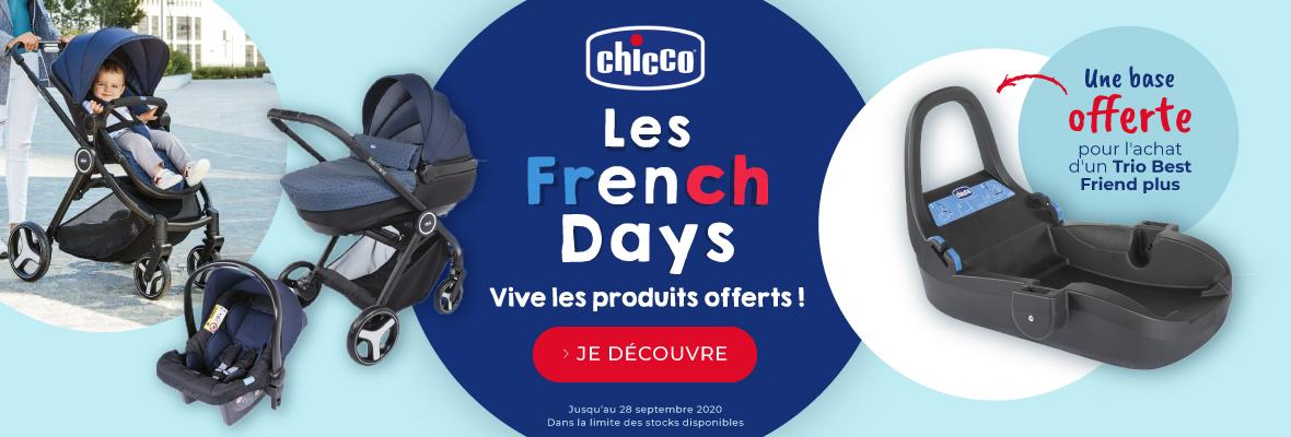 Les French days Chicco, vive les produits offerts !