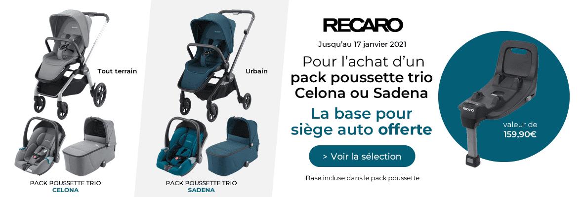 La base offerte pour l'achat d'un trio Recaro !