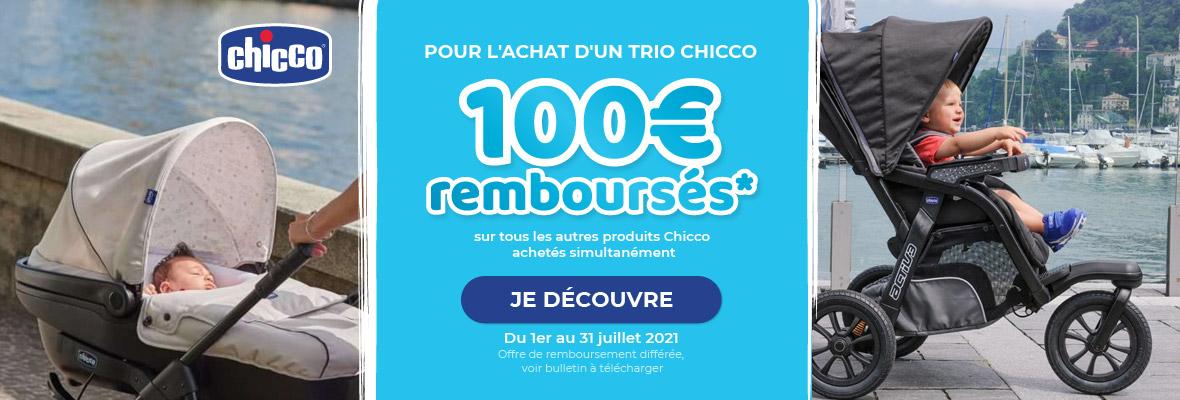 100€ remboursés pour l'achat d'un trio Chicco