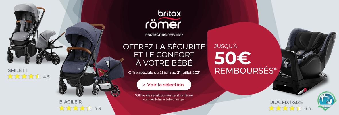 Jusqu'à 50€ remboursés chez Britax