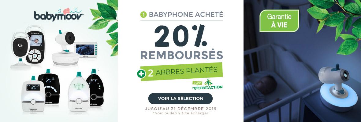 20% remboursés sur les babyphones Babymoov !