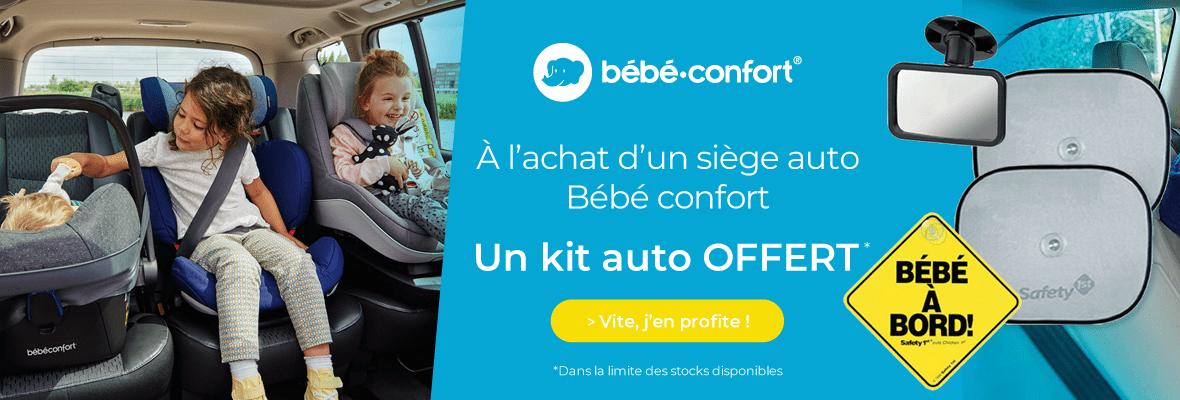 Un kit auto offert pour l'achat d'un siège auto Bébé confort !