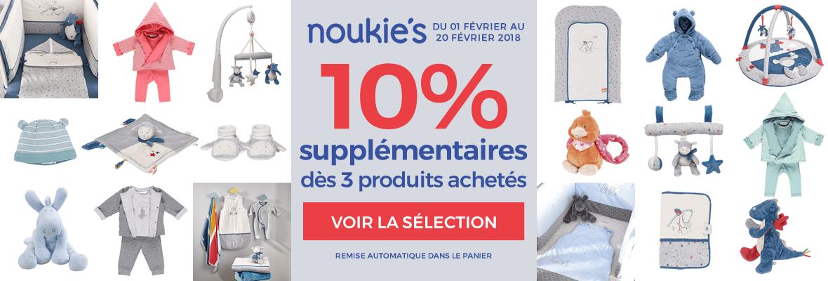 10% supplémentaires chez Noukies !