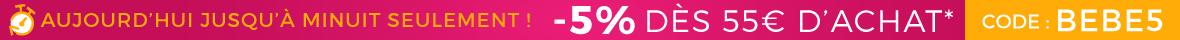 5% de remise dès 55€ !