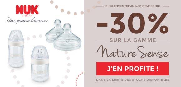 30% sur la gamme Nature Sense !