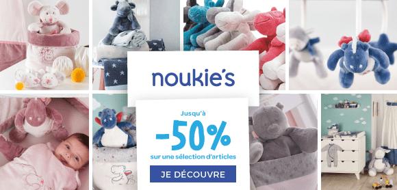 Jusqu'à -50% chez Noukies !