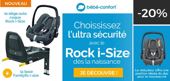 Choisissez l'ultra sécurité avec le Rock i-size !