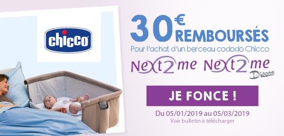 30€ remboursés sur un Next 2 me !