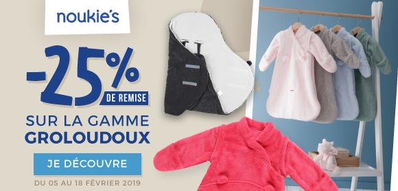25% sur la gamme Groloudoux !