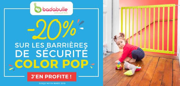 20% sur la gamme de barrières color pop !