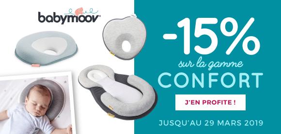 15% sur la gamme confort Babymoov !