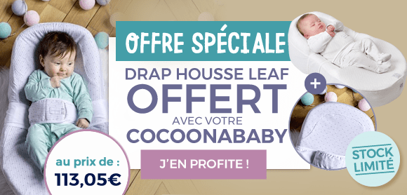 Drap housse leaf cocoonababy offert