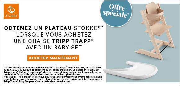 Le plateau STOKKE TRAY offert !