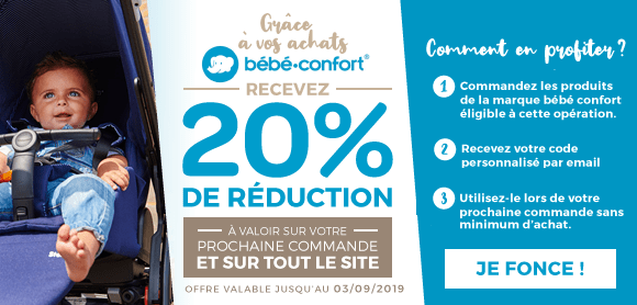 Bon de réduction de 20% sur vos achats Bébé Confort