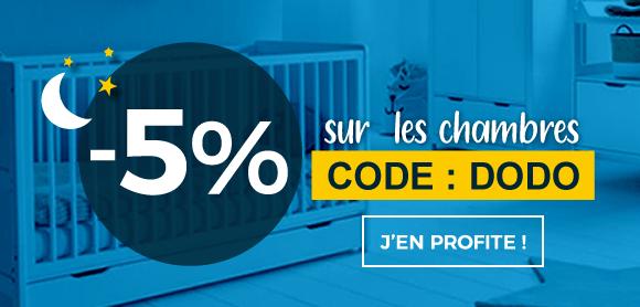 5% supplémentaires sur les chambres !