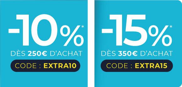 Codes EXTRA10 et EXTRA15 - home