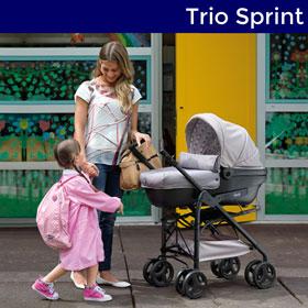 Poussette trio sprint black