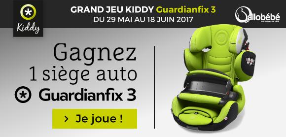 Jeu KIDDY : 1 siège auto Guardianfix 3 à gagner