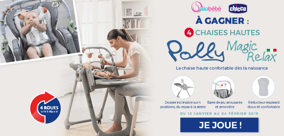 Grand jeu 4 chaises hautes Polly Magic Relax